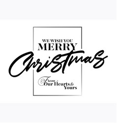merry christmas inscription greeting card vector image vector image