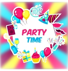Party time background vector