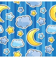 pattern with night sky vector image vector image