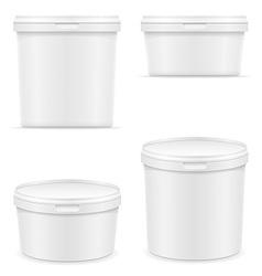 Plastic container for ice cream or dessert 05 vector