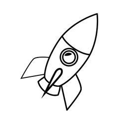 Rocket start-up isolated icon vector