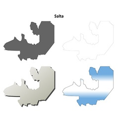 Salta blank outline map set vector