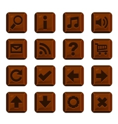 Set of chocolate buttons with different shapes vector image