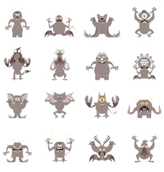 Set of flat moster icons5 vector image vector image
