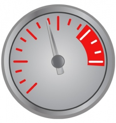 speed gage vector image