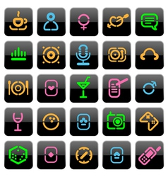 Stencil buttons for leisure vector image