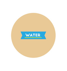 Stylish icon in color circle water text vector