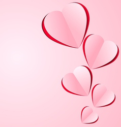 stylized paper heart vector image vector image