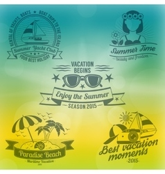 Summer background composition vector
