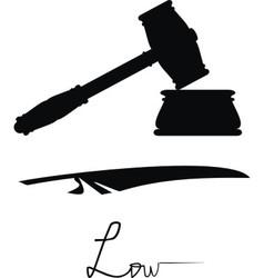 symbols of justice and low vector image vector image