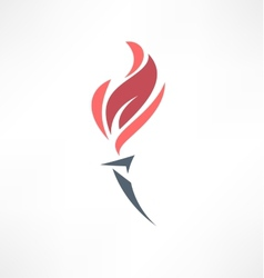 Torch icon Logo design vector image vector image