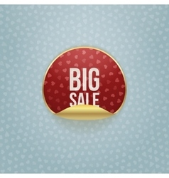 Valentines Day circle Sticker with Big Sale Text vector image vector image
