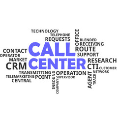 word cloud - call center vector image vector image