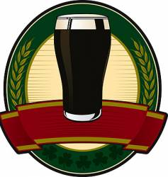 black beer irish label vector image