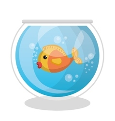 cute fish colors isolated icon vector image
