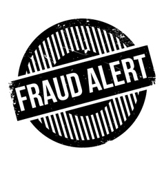 Fraud alert rubber stamp vector