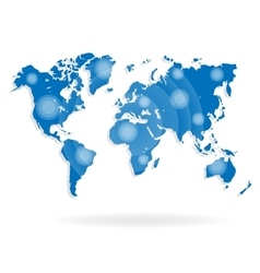 World map for website on a white background vector image