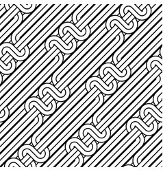Design seamless monochrome waving pattern vector