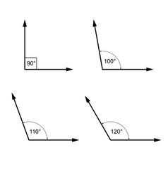 Angles in degrees  geometry math signs symbols vector