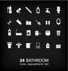 Bathroom equipment set vector
