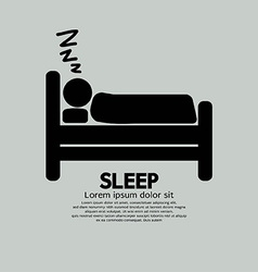 Person sleeping in bed symbol vector