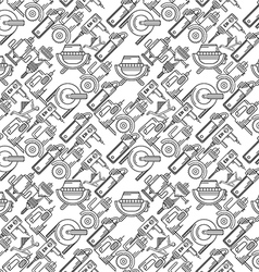 Seamless background for construction tools vector image