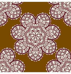 Seamless tribal pattern delicate mandala floral vector