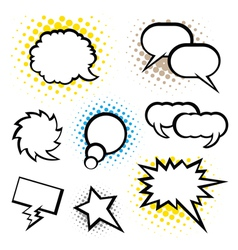 Set of speech bubble vector