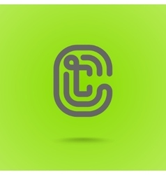 Letter c graphic logo element vector