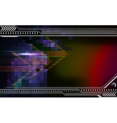 Abstract techno background with arrows vector image vector image