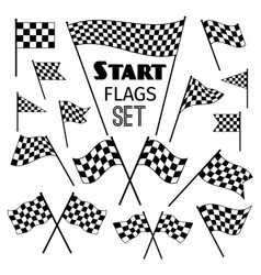 Checkered flag icons vector