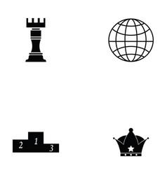 Chess icon set vector
