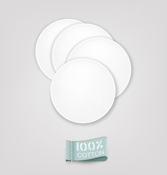 cotton pads vector image