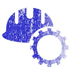 Development hardhat grunge textured icon vector