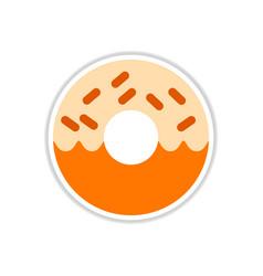 Donut sticker vector