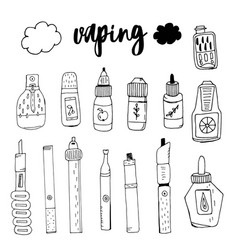 Doodle smoke electronic cigarette taste the smok vector