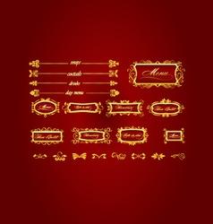elegant restaurant menu vector image vector image