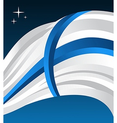 Finland flag background vector image vector image