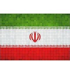 Flag of iran vector