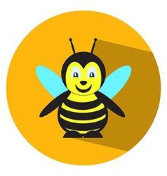 Flat bee vector image vector image