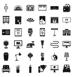 furniture icons set simple style vector image vector image