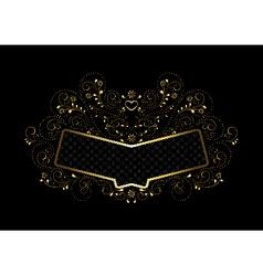 Gold frame in gold openwork floral framing vector image vector image
