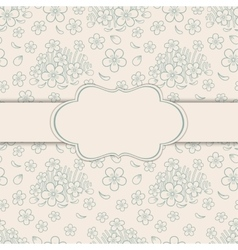 Greeting card with floral ornament vector image vector image