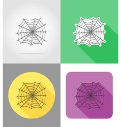 halloween flat icons 01 vector image vector image