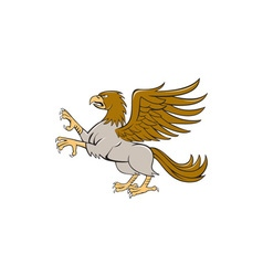 Hippogriff prancing side isolated cartoon vector
