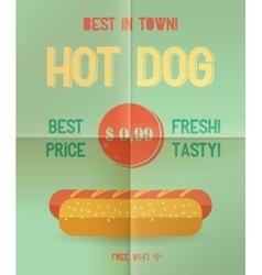 Hot Dog menu price vector image vector image