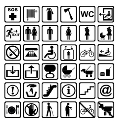International service signs all objects are vector