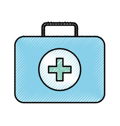 medical bag cartoon vector image