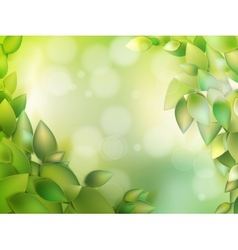 Natural green with selective focus EPS 10 vector image
