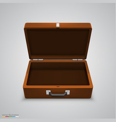 outdoor leather briefcase vector image